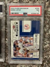 2002 FLEER MAXIMUM #256 DEREK JETER  *PSA GRADED NM 7 * *SHARP* KGC-23285