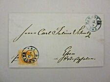 Hannover - 1859, 3 Gr. dunkelorangegelb auf Prachtbrief nach Essen (86-11)
