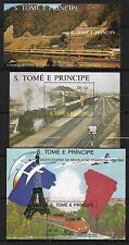 S. Tomé principe neuf** blocs 54-87-67 train railway chemin de fer  ferrocaril