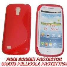 Pellicola+Custodia cover case WAVE ROSSA per Samsung I9190 Galaxy S4 mini