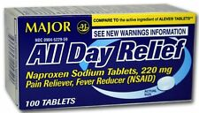 Naproxen Sodium 220mg Pain Fever Relief  100 Caplets EXP IN 12 MONTHS OR LATER!