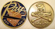 USS Ray SSN 653 Submarine Coin Jolly Roger USN Sub