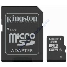 KINGSTON 8GB 8G 8 G GB MICRO SD MICRO SDHC C4 MEMORY with Adapter SDC4/8GB