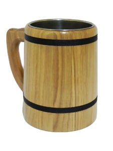 Oak Wooden Mug perfect for Beer or other drinks Cup Tankard Wood 0.5L M05