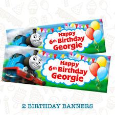 Thomas The Tank Engine Birthday Banner Vinyl Add Photo,Name /& Age 3ft x 1ft