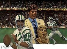 Joe Namath New York Jets Lithograph Robert Simon Art