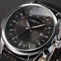 Official Agentx Luxury Men's Date Analog Quartz Leather Band Sport Wrist Watch