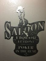 Metal Wall Art Decor Salon Sign. Bar Sign Man Cave