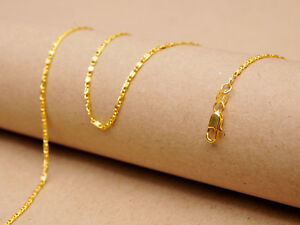 1PCS 22inch 18KGF Gold Flat S Chain Making Pendant Necklace Accessorie Jewelry