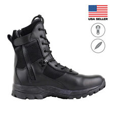 Maelstrom® LANDSHIP 8''  Military Tactical Duty Work Boots with Zipper