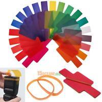 20pcs/Set Flash Speedlite Color Gels Filters for Canon Nikon Sony DSLR Camera