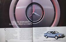PUBLICITÉ DE PRESSE 1986 MERCEDES BENZ BERLINES 200-300 E - ADVERTISING
