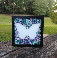 Butterfly Shadowbox, Butterfly Decor, Lucky Stars, Gift for Her, Origami