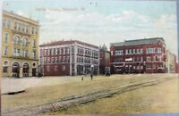 Belleville, IL 1910 Postcard: Public Square - Illinois Ill - Unused