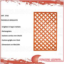 PANNELLO GRIGLIATO SAGOMATO IN LEGNO TRATTATO 90X180CM GIARDINO ESTERNO ART13169