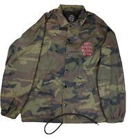 Anti Social Social Club ASSC Windbreaker Jacket Green Camo Men's Size Large