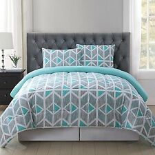 Truly Soft Malene King Comforter Mini Set in Grey/Aqua