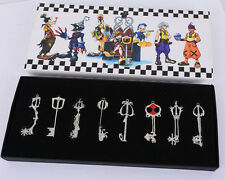 8pcs Kingdom Hearts I SET KEY BLADE Sora Keyblade Pendant Necklace Collection