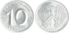 10 Pfennig DDR 1953 E seltenes Jahr / Münzzeichen  prägefrisch-Stempelglanz (1