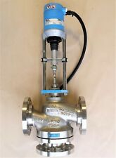 "HORA DN65 (2-1/2"") PN40 (600 psi) Stainless Steel 3-way Globe Valve w/ Actuator"