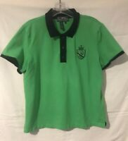 Lauren by Ralph Lauren Womens Polo Green with Black - Large Crest Crown - Size L