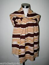 """RARE RNWY MISSONI SOFT X-LONG KNIT MOHAIR 15""""X72"""" SCARF ORANGE LBL made in Italy"""