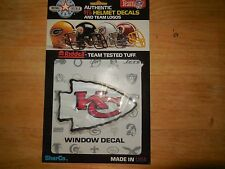 kansas city chiefs authentic nfl helmet decal made by riddell