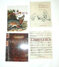 4 CHRISTIE'S AUCTION  CATALOGS BIRDS MUSIC CHILDREN BOOKS &  NAKLES COLLECTION