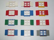 shutters windows choose model 3853+3854+3856 Lego ® window house vintage 1x4x3