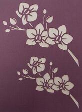 Scrapbooking - STENCILS TEMPLATES MASKS SHEET - Orchid Spray Stencil