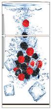 Stickers frigo frigidaire Fruits glaçons 70x170cm réf 6208