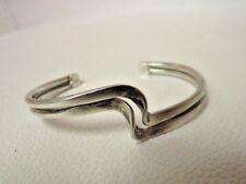 Sterling Silver .925 Cuff Bracelet Jewellery Jewelry Swirl Design Simple