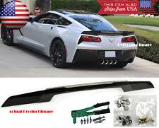 Rear Trunk Wing Spoiler Wicker bill w/ Rivnut Gun For 14-Up Corvette C7 Stingray