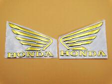 Motorcycles 3D Raise Tank Emblems Decal for Honda Wing Hornet CB600 MT Gold L/R