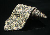 Jim Thompson Black Gold Novelty Silk Classic Elephants Neck Tie