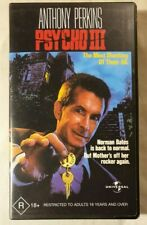 Psycho III [3] VHS 1986 Slasher/Horror Anthony Perkins 2001 Universal Studios