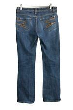 Seven7 Womens Size 31 x 33 Blue Denim Flare Jeans