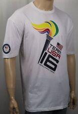 Polo Ralph Lauren White Brazil Olympic Torch Crewneck Tee T-Shirt NWT