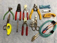 Miscellaneous Lot of Fiber Optic Hand Tools, Jonard, Clauss, Xcelite, GB, Ideal