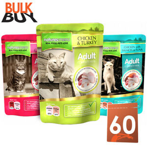 Natures Menu Mixed Multipack Adult Cat Food Pouches 60 x 100g