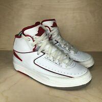 Nike Air Jordan 2 Retro White Varsity Red 2014 Style # 395718-102 Size 5.5Y