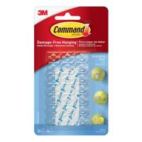 3M Command Clear Decorating Clips- Damage Free Hanging Strips - 17026CLR