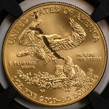 "2019 NGC MS69 Struck Thru ""Snake And Eagle"" Gold American Eagle $50 Mint Error"