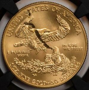 "2019 NGC MS69 Struck Thru ""Snake And Eagle"" Gold American Eagle $50 Mint Error"