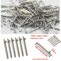 10PCS Detachable Pins Quick Release Spring Bar Watch Band Spair Tools 18-22MM