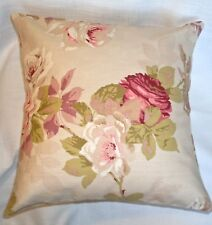 Pretty Red Rose Floral Cushion Covers Beige Lilac contry durable Cotton 16''  BN