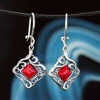 Koralle Silber 925 Ohrringe Damen Schmuck Sterlingsilber H0210