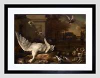 JAN WEENIX DUTCH STILL LIFE SWAN GAME COUNTRY ESTATE FRAMED ART PRINT B12X5299