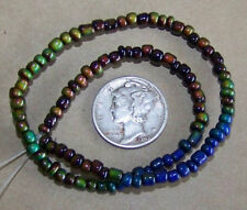 a STRAND of 100 - 3mm Micro Micro Mood / Mirage Beads  - 1.5mm Hole