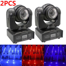 2PCS 50W Beam Double Side Stage Lighting LED Moving Head RGBW DMX DJ Disco Light